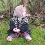 Tunisian Crocheted Jacket baby swea..