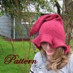 Womens Witch or Elf Hat Pattern, Ad..
