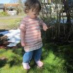 Little Raglan Tee, Knitting PATTERN..