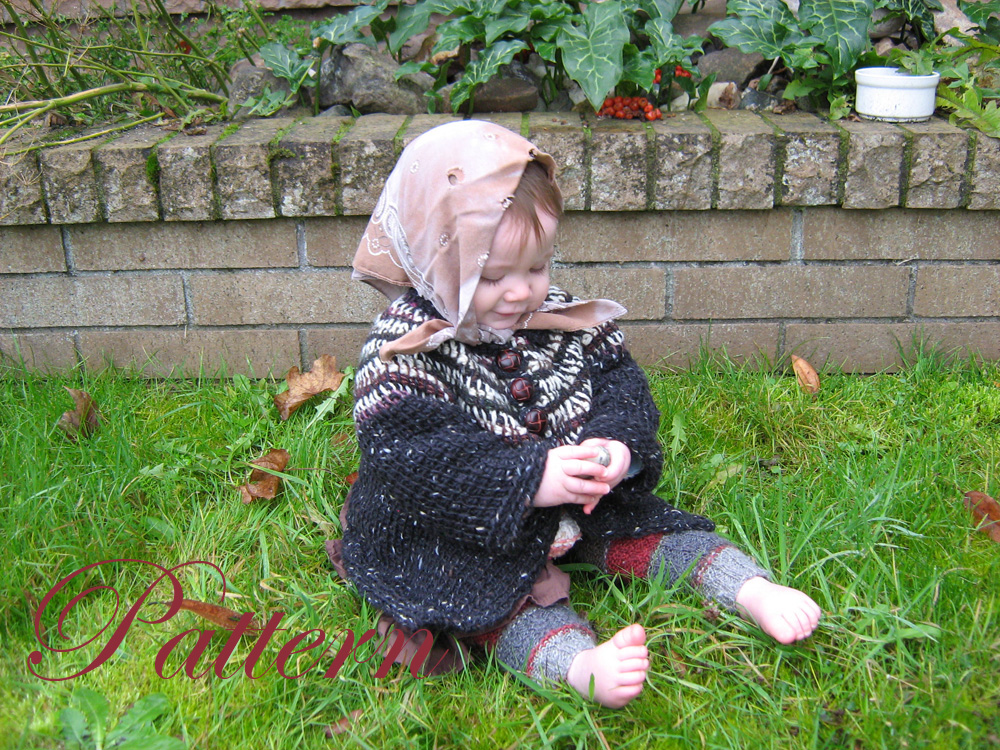 Tunisian Crocheted Jacket baby sweater PATTERN, PRICE REDUCED