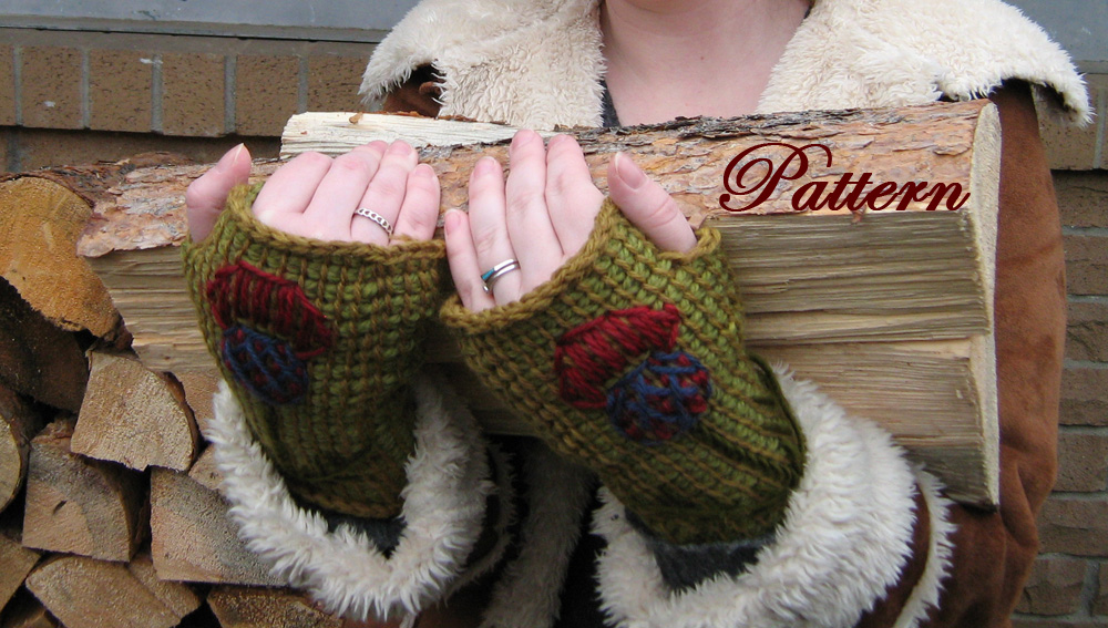 Tunisian Crochet Fingerless Mitt Pattern Woman And Men Adult Sizes