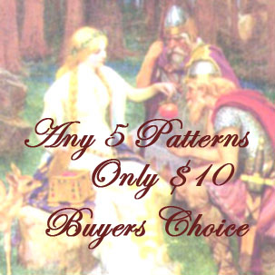 Pick any 5 knitting or crochet Patterns for 10, Buyers Choice, SALE