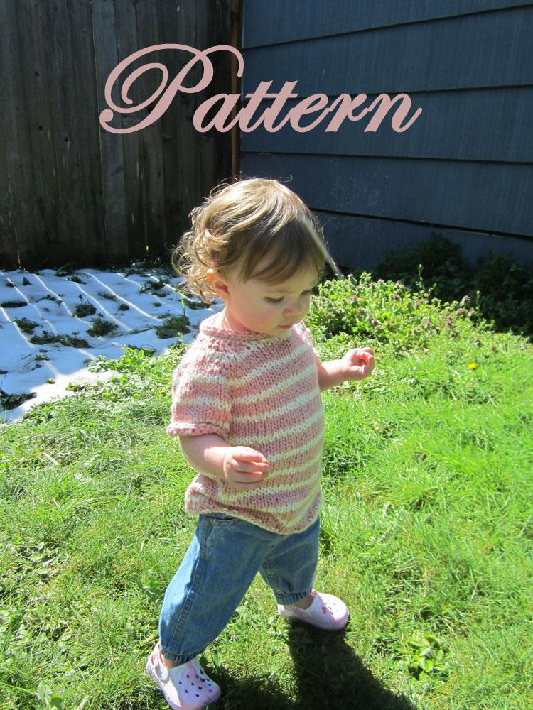 Little Raglan Tee, Knitting PATTERN, size toddler to 10