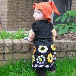 OOAK - Baby girl Granny Square crocheted skit - Ready to ship