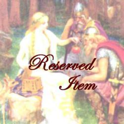 Reserved Item for Bobbi, Lay Away Payment on Custom Item